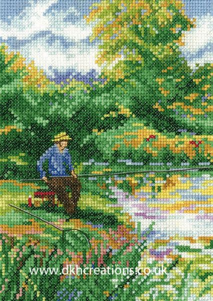 A Days Fishing Cross Stitch Kit